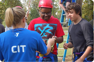 Future Camp Counselors During a Training Session